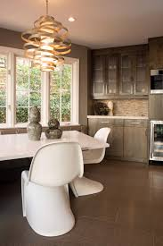 corbett lighting kitchen contemporary with breakfast nook chic contemporary fresh frosted glass cabinet doors gray modern