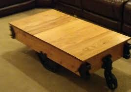 Industrial Factory Cart Coffee Table How To Build A Factory Cart Coffee Table Restore An Old Factory Cart