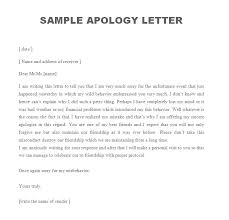 Apologize Sample Letters Sample Apology Letter Free Sample Letters