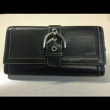 ... Black Fold Coach Wallet Leather Soho Buckle FS8630 Coach In Signature  Large Grey Wallets ARS Coach Big Logo Large Grey ...