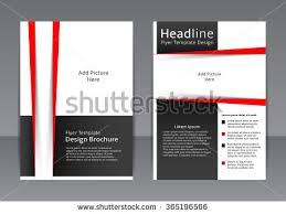 Flyer Black And White Red And Black Modern Brochure Flyer Design Template Download Free