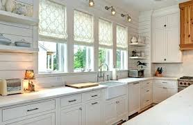 home white. Roman Blinds Kitchen Shades Stylish Ideas For An Elegant Home White Wood Cabinets Roller Kitchener
