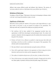 employee motivation sbq project employee motivation