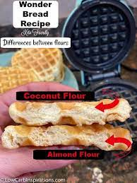 These make an excellent low carb substitute for bread and are perfect for sandwiches, or with warm butter and syrup for breakfast! Keto Wonder Bread Chaffle Recipe Coconut And Almond Flour Recipe Versions Low Carb Inspirations