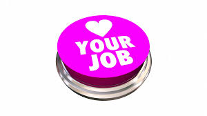 I Love My Job Buttons Working Career Pins 3d Animation Motion