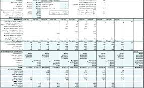 Estimate Template Excel Construction Download Free And Contractor