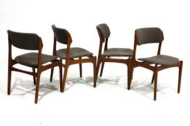 set of 4 teak dining chairs by erik buch for oddense maskinsnedkeri a s