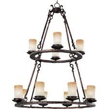 notre dame oil rubbed bronze twelve light chandelier