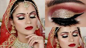 indian bridal makeup tutorial in hindi cut crease waterproof makeup