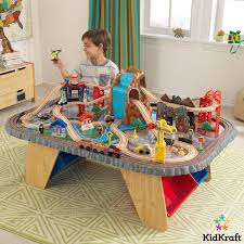 kidkraft waterfall junction train set table 3 years