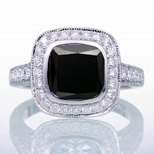 Black Diamond Wedding Ring Sets For Her