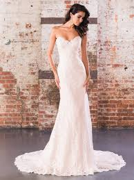Pearl Embellished Straight Bridal Gown Illusion Lace Sweetheart Neckline