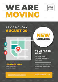 Moving Flyer Template We Are Moving Flyer Templates