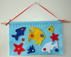 felt fish wall hanging tutorial fun and easy to do