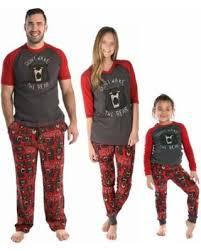 Family Matching Christmas Pajamas Set Xmas Bear Print Tops Long Pants Sleepwear PJ Sets Mom Dad On Sale NOW! 17% Off