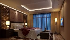 lighting in interior design. lighting interior design and bedroom rendering with blue curtains in i