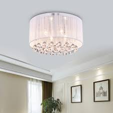 white drum light belle 4 light white drum chrome flush mount crystal chandelier ceiling fixture white