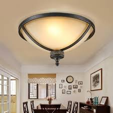 frosted glass dome ceiling light dining