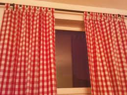red white tab top gingham curtains