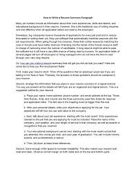 Phone Number On Resume How To Write A Resume Summary Paragraph By Acadsoc Issuu