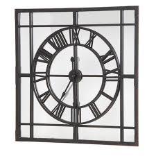 framed clock mirror