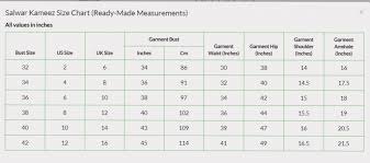 Size Chart Asian Fashion Line Usa