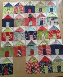The 25+ best House quilt patterns ideas on Pinterest | House quilt ... & Pat sloan group of villages house quilt block, house quilt, pieced house  (Needs Adamdwight.com