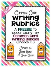 Common Core Writing Rubrics   Common cores  Rubrics and School Pinterest That W    a standard encompasses a lot of important aspects of an essay  that need to be assessed separately  Simply check the rubric elements that  you want