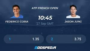 Federico Coria - Jason Jung » Live Score & Stream + Odds, Stats, News