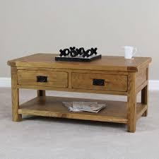 original rustic solid oak 4 drawer storage coffee table rascalartsnyc