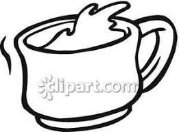 mug clipart black and white. a coffee mug in black and white - royalty free clipart picture