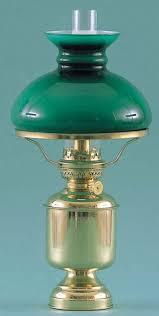 Tafellamp Groot Kap Groen Messing Olie