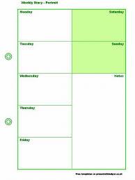 Weekly Meeting Calendar Template Weekly Diary Template