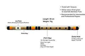 8 Hole Carnatic Flute Finger Chart Radhe Flutes Pvc Fiber C Natural Bansuri Middle Octave Right Handed 19 Inches
