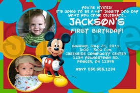 mickey mouse photo birthday invitations invitations design personalized mickey mouse first birthday invitation custom photo