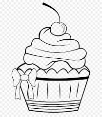 cupcake drawing black and white. Brilliant White Cupcake Frosting U0026 Icing Muffin Coloring Book  Draw With Drawing Black And White R