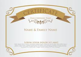 Certificate Borders Free Download New Certificate Template Free Vector Download 4848 Free Vector For
