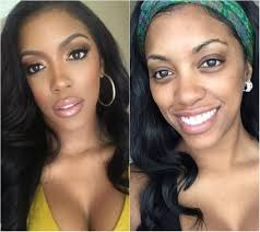 the las of the real housewives of atlanta rhoa are rarely seen without a face beat for the s often shown wearing makeup during gym sessions and