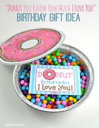 cute donut e gift card printable and homemade birthday gift idea