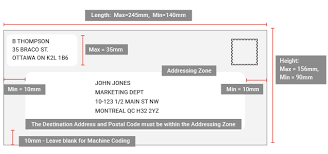 Envelope Format Addressing Mail Accurately Canada Post