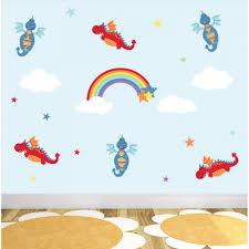 dragons rainbow nursery wall stickers