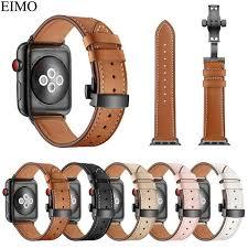 senarai harga eimo strap for apple watch band 42mm 44mm hermes iwatch series 4 3 2 1 38mm 40mm genuine leather bracelet wrist belt watchband terkini di