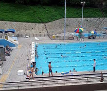 public swimming pool. Interesting Pool The Main Pool At Lei Cheng Uk Swimming Pool Complex Opened 1971 As One Of  Many Funded By The Royal Hong Kong Jockey Club Throughout Public T