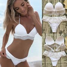 <b>2019</b> 2018 <b>New Popular Women</b> Sexy Bandage <b>Lace</b> Bikini Set ...