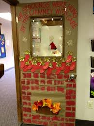 classroom door with window. Classroom Door ~ Christmas 2012. My Students Sponge Painted The Brick Work, Used Construction With Window