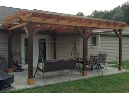 covered pergola plans design diy how to build 12 x24 step by step