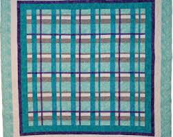 Plaid quilt | Etsy & Pretty in Plaid Quilt Pattern - PDF digital download Turquoise, Aqua, Ultra Adamdwight.com