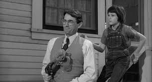 culture scout mary badham and atticus gregory peck in to kill a mockingbird
