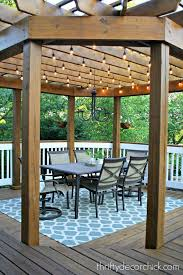 outdoor pergola lighting. Outdoor Dining Room With String Lights Pergola Lighting