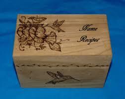 Decorative Recipe Box Decorative Wood Recipe Card Box Wood Burned Box Wedding Tree 26